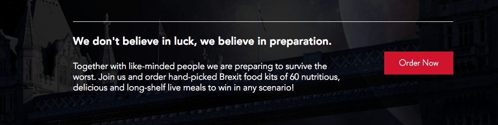 screenshot of banner from brexit food supplier's website