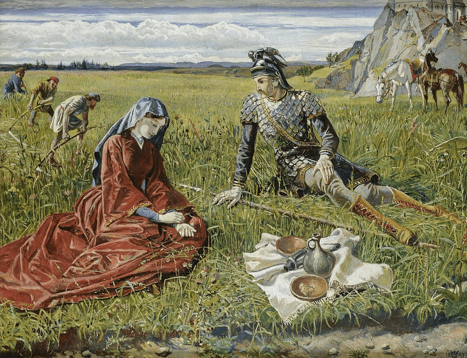 Ruth and Boaz by Walter Crane (1863)