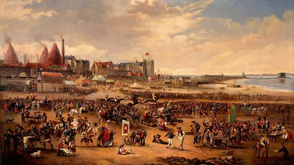 Painting Leith Races by William Reed copyright Edinburgh City Council