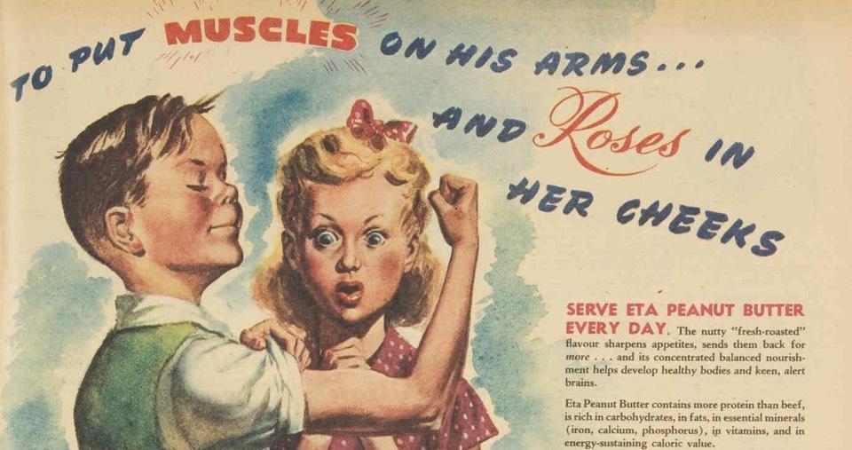Part of a 1946 Australian advertisement for peanut butter