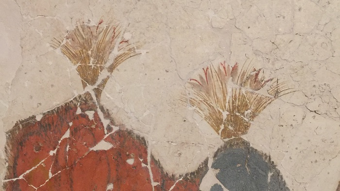 Detail of saffron crocus from a Pompeian fresco